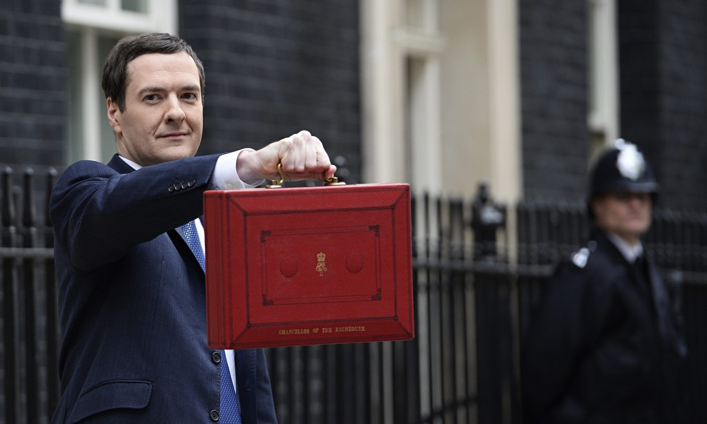 George Osborne with despatch box